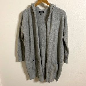 Topshop Long Hooded Cardigan with pockets